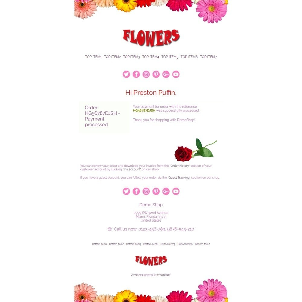 email - Template di e-mail PrestaShop - Flowers - Email templates - 3