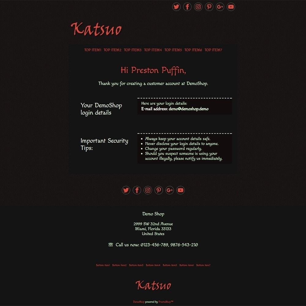 email - Email templates PrestaShop - Katsuo - Email templates - 2