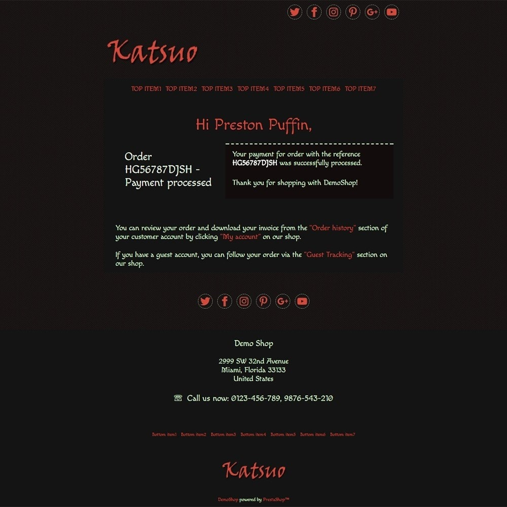 email - Email templates PrestaShop - Katsuo - Email templates - 3