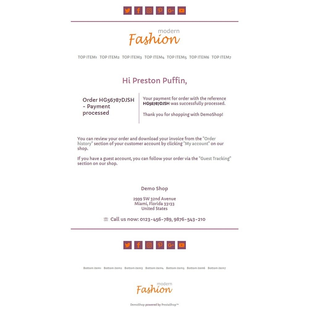 email - Template di e-mail PrestaShop - Modern Fashion - Email templates - 3