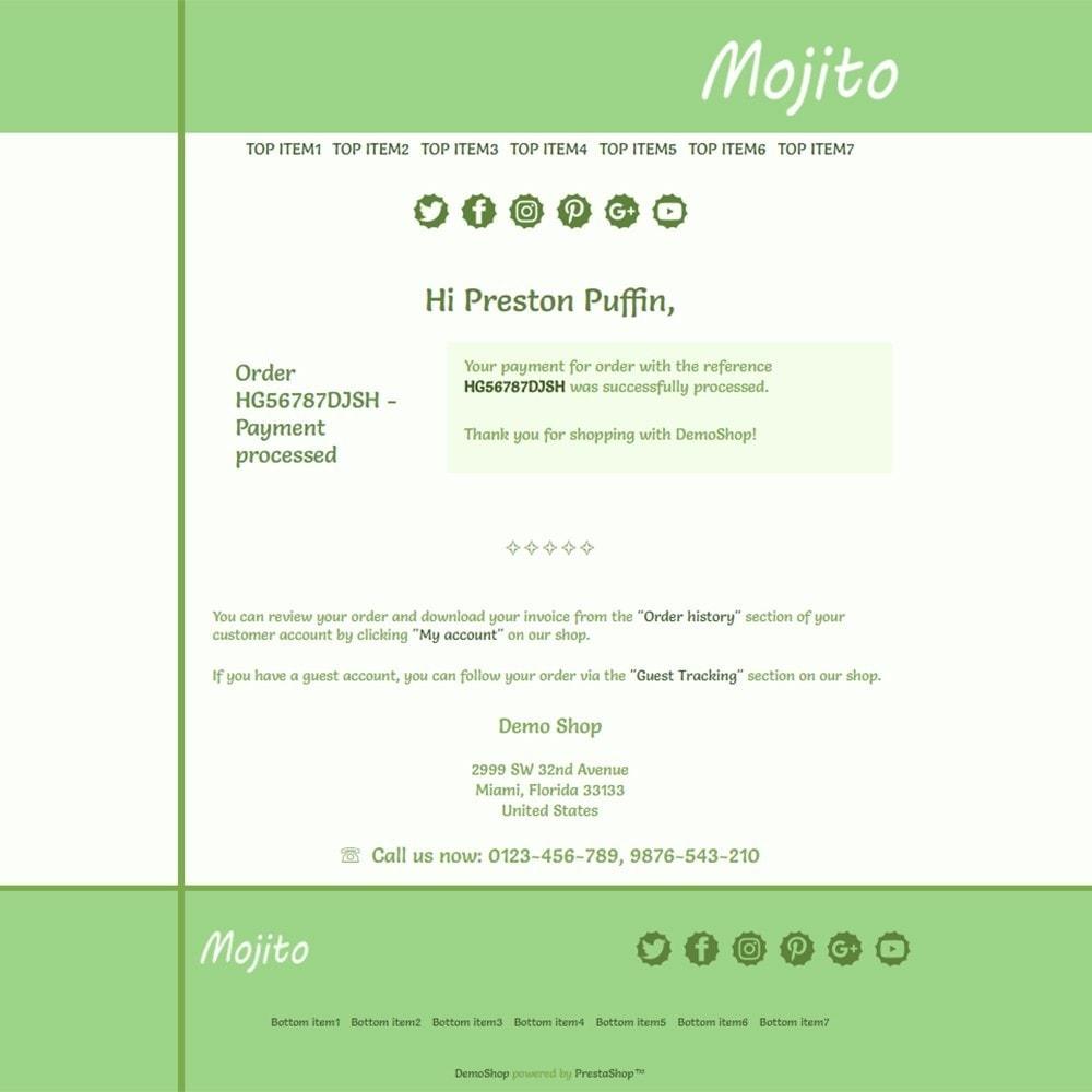 email - Templates d'e-mails PrestaShop - Mojito - Email templates - 3