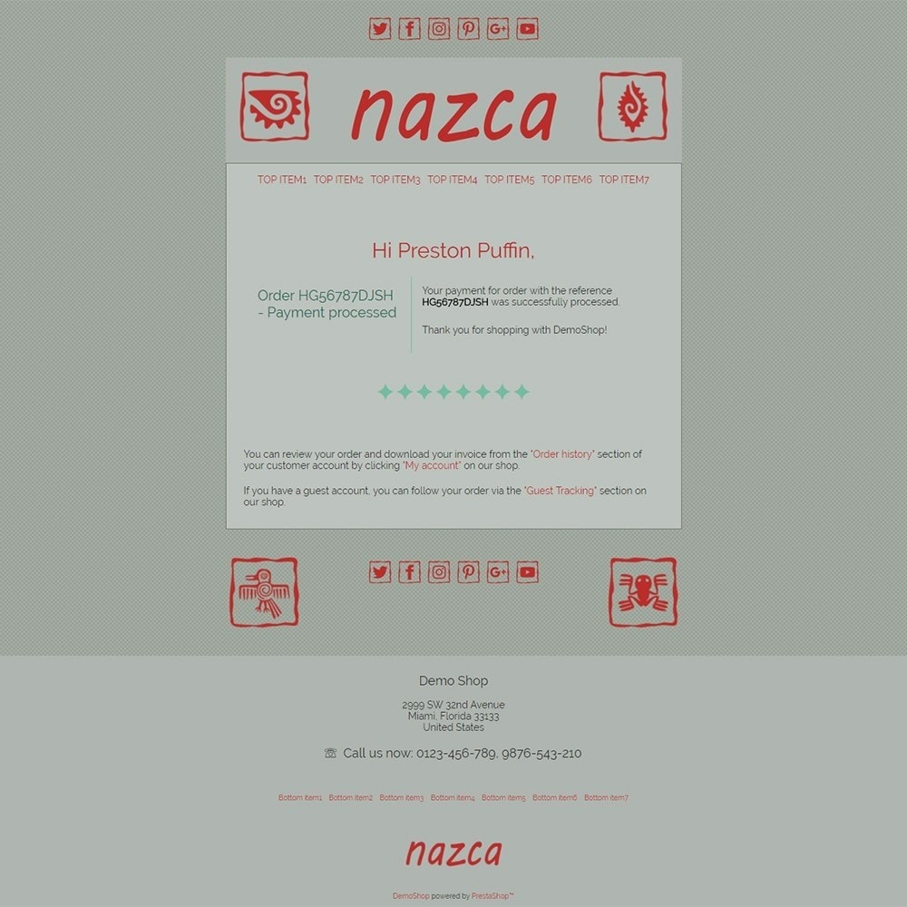 email - PrestaShop email templates - Nazca - Email templates - 3
