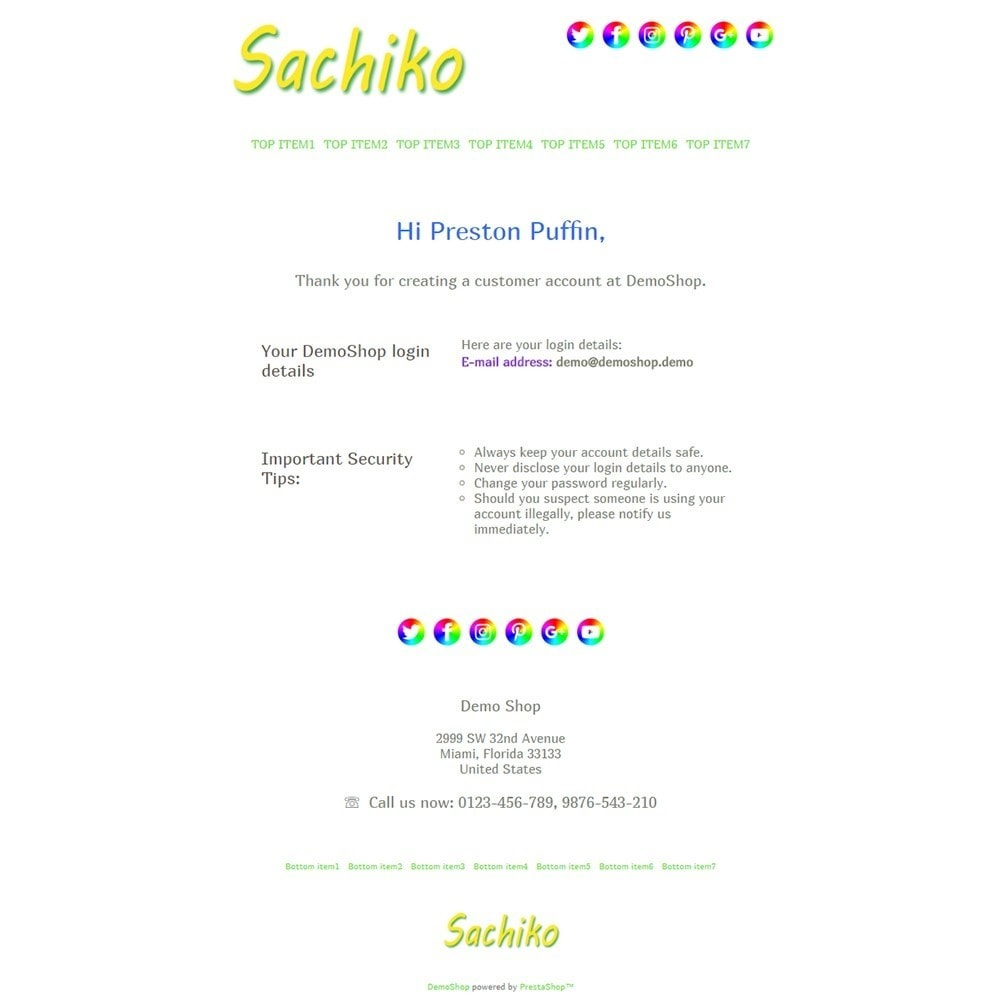 email - Email templates PrestaShop - Sachiko - Email templates - 2