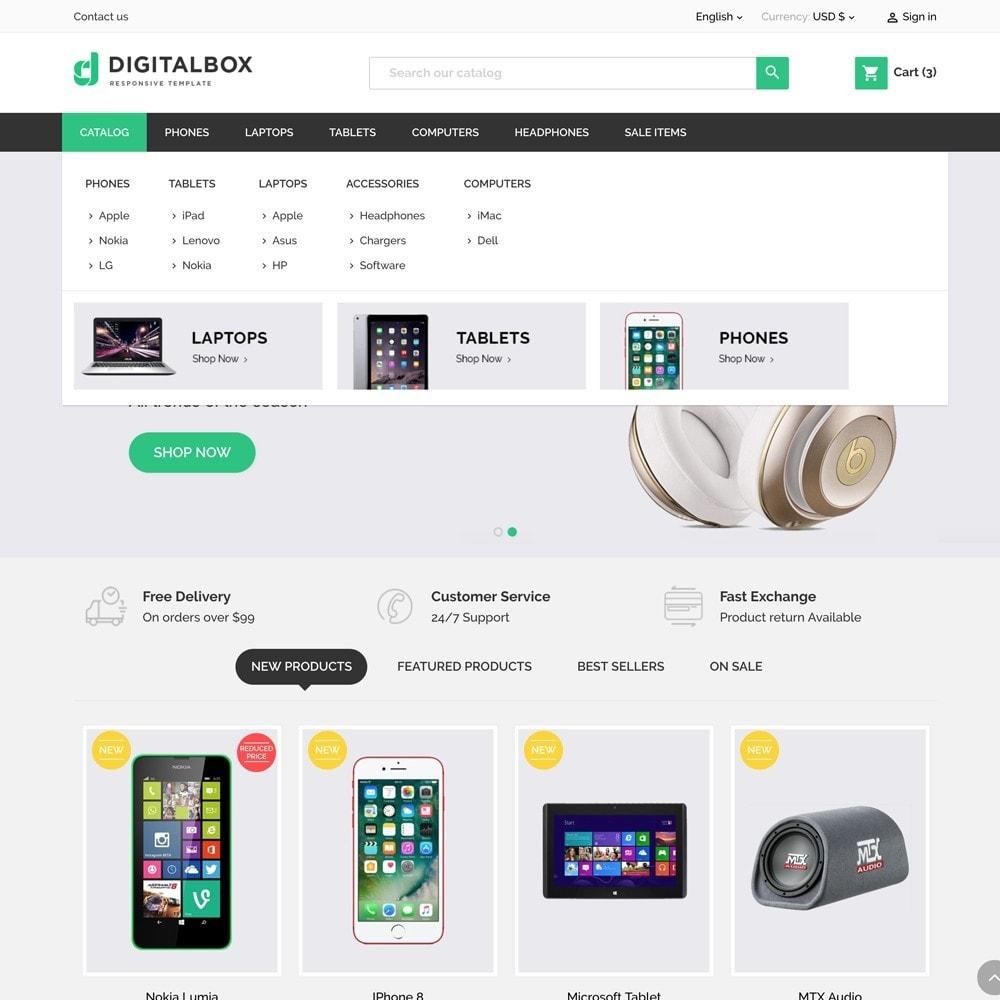 theme - Elektronika & High Tech - Digitalbox Electronics Store - 3
