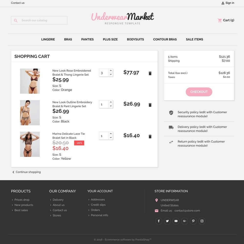 theme - Lingerie & Adulte - Underwear Market - 6