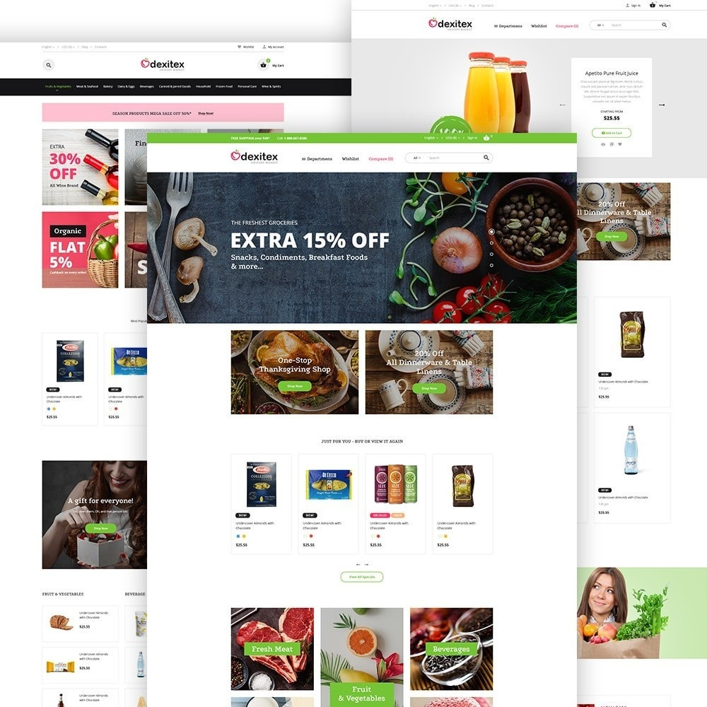 theme - Food & Restaurant - Dexitex - Grocery Market - 2