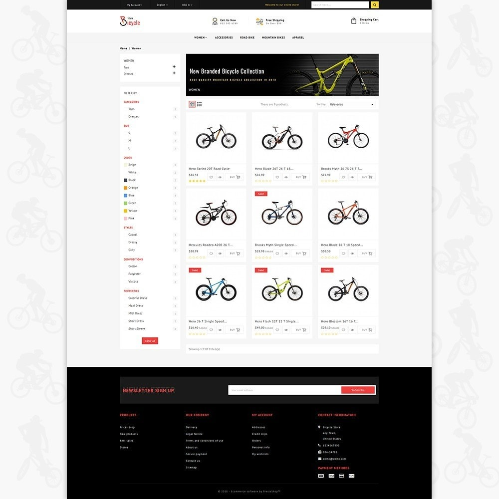 theme - Sports, Activities & Travel - Bicycle Sports Store - 3