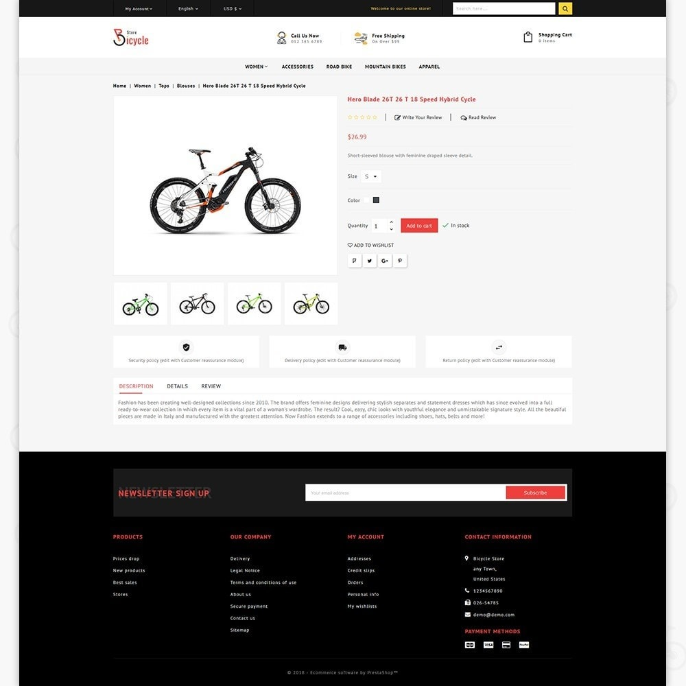 theme - Sports, Activities & Travel - Bicycle Sports Store - 5