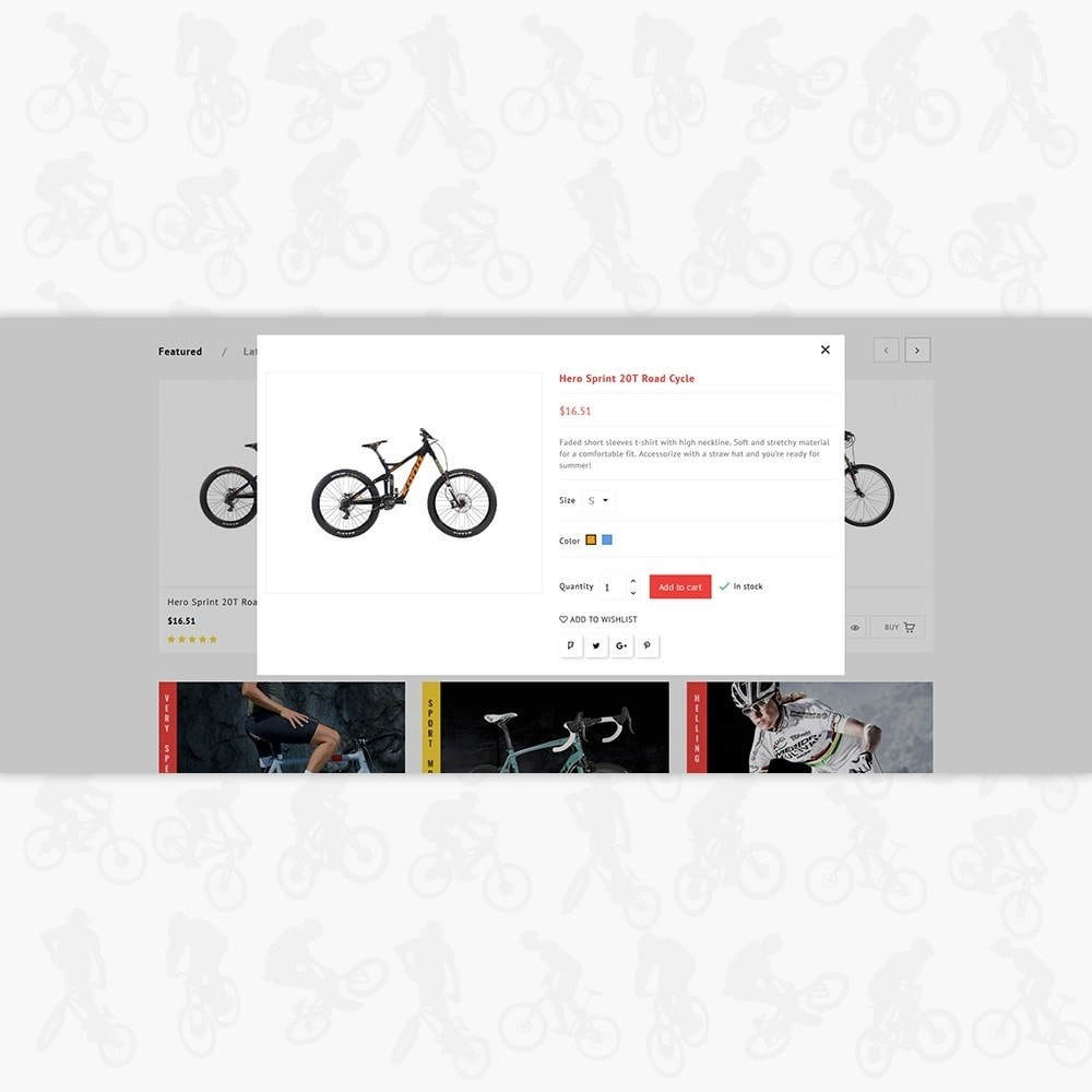 theme - Sport, Rozrywka & Podróże - Bicycle Sports Store - 7