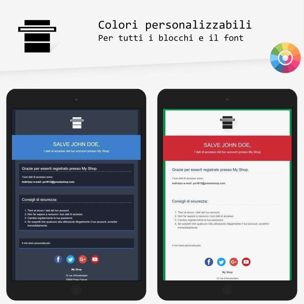 email - Template di e-mail PrestaShop - Head - template di e-mail - 2
