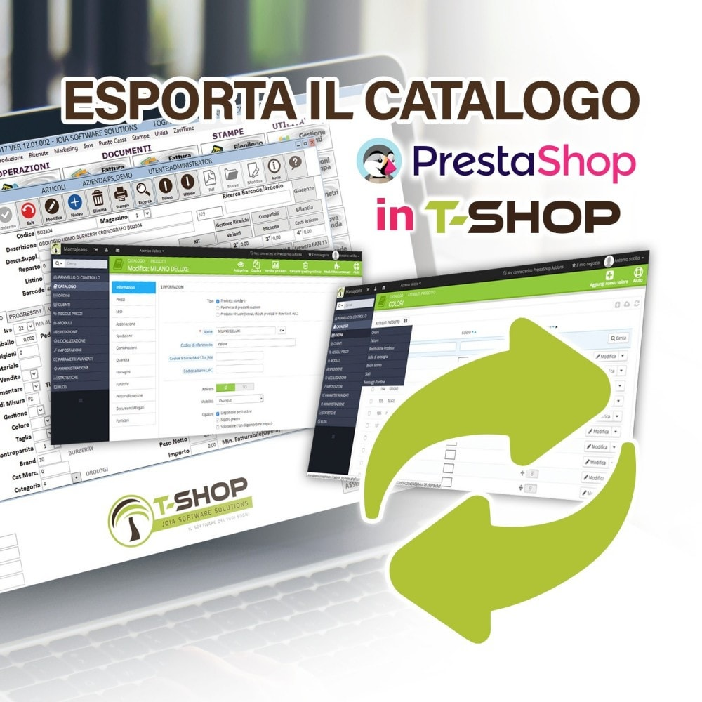 module - Datenmigration & Backup - Export all products from PrestaShop to T-Shop - 1