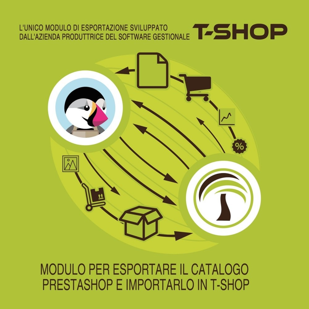 module - Migración y Copias de seguridad - Export all products from PrestaShop to T-Shop - 2