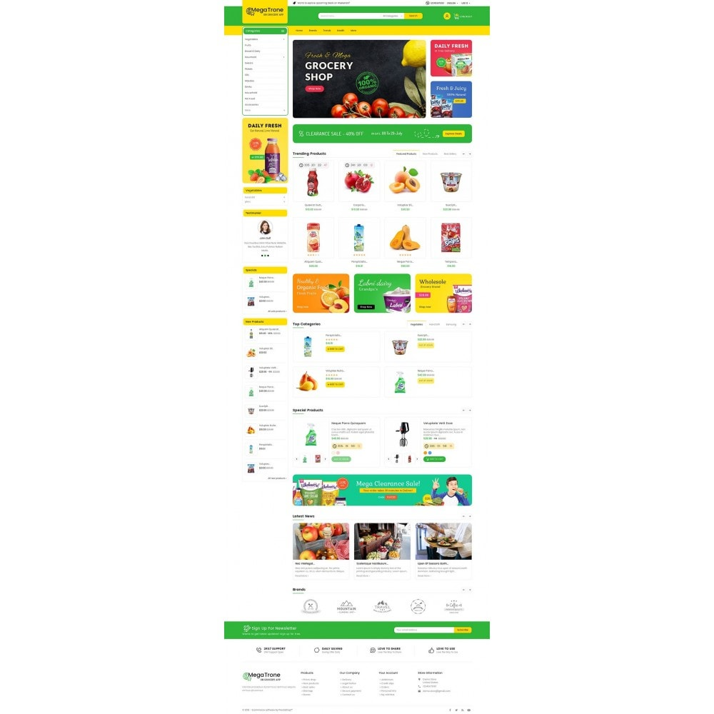 theme - Eten & Restaurant - Mega Trone Grocery - 2