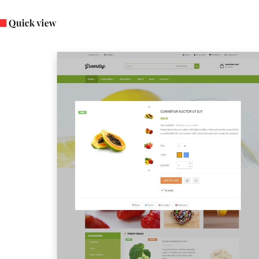 theme - Alimentation & Restauration - Leo Green  Fresh Food store - 6