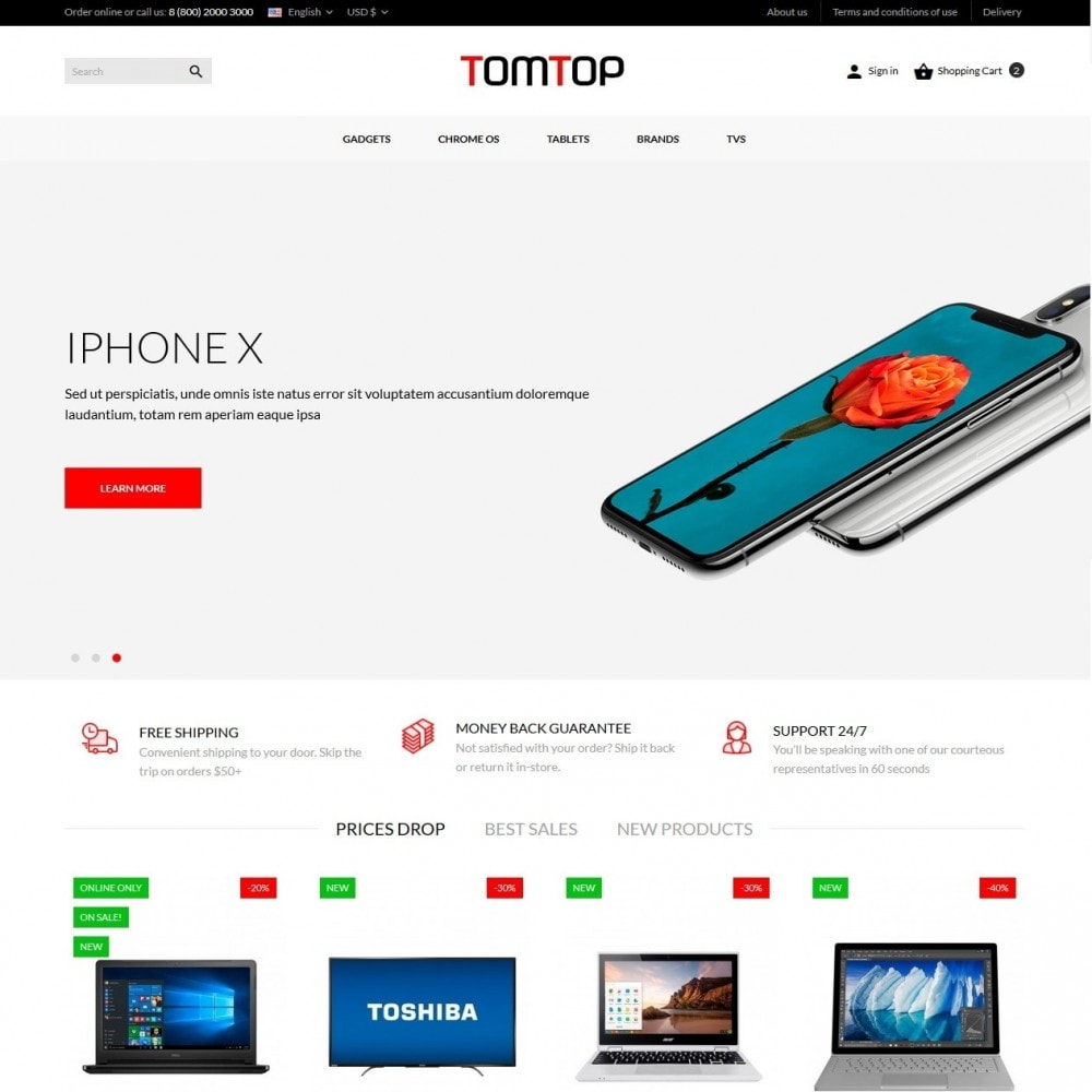 theme - Electronics & Computers - Tomtop - High-tech Shop - 2
