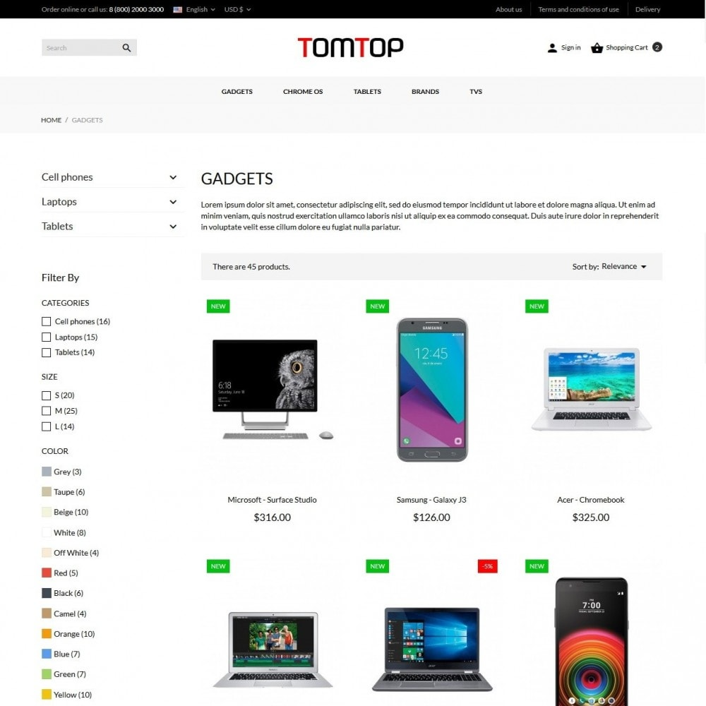 theme - Электроника и компьютеры - Tomtop - High-tech Shop - 5
