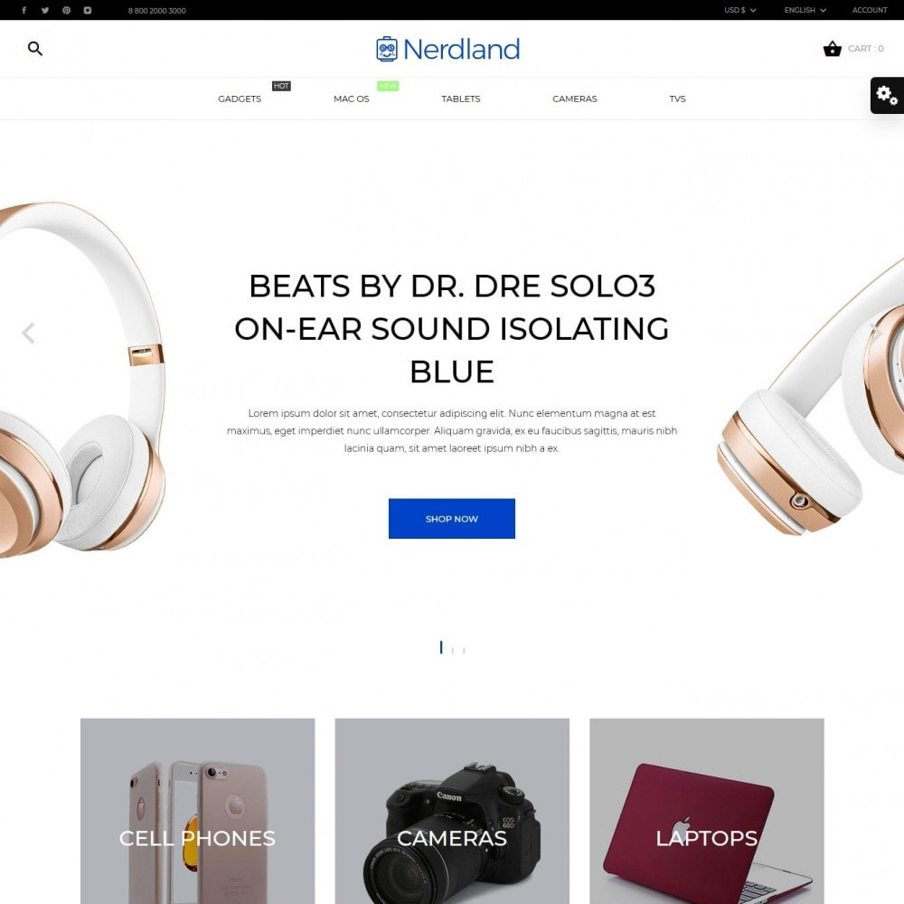 theme - Elettronica & High Tech - Nerdland - High-tech Shop - 2