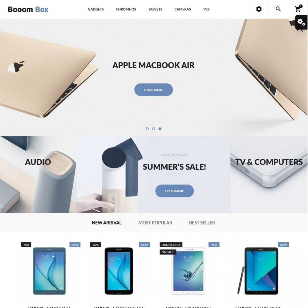 theme - Электроника и компьютеры - Booom box - High-tech Shop - 2