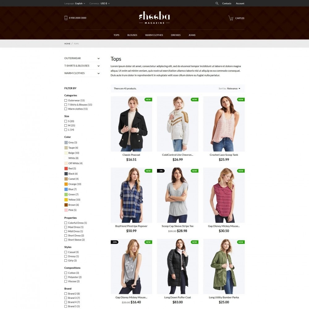 theme - Мода и обувь - Sheeba Fashion Store - 6