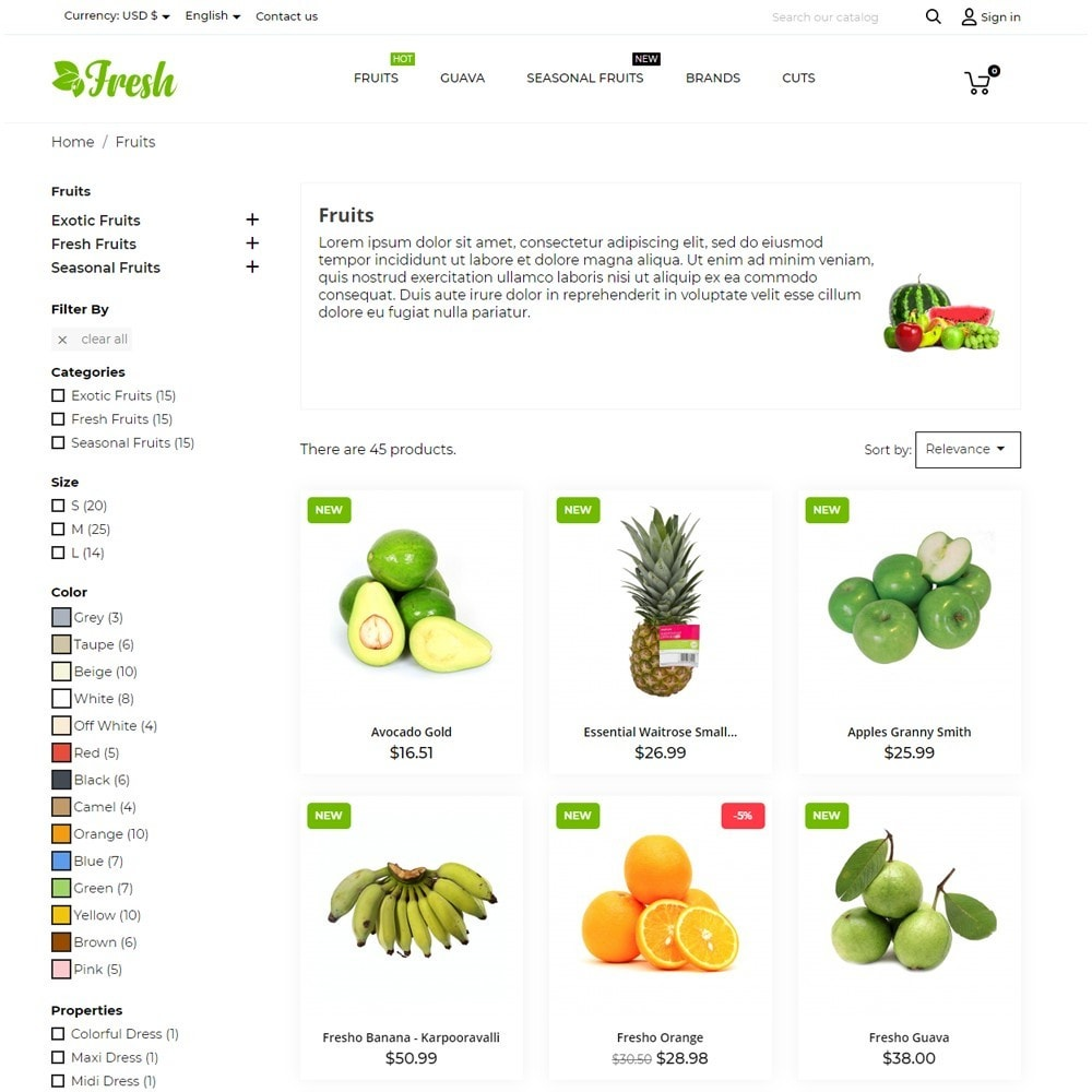 theme - Alimentos & Restaurantes - Fresh - 7