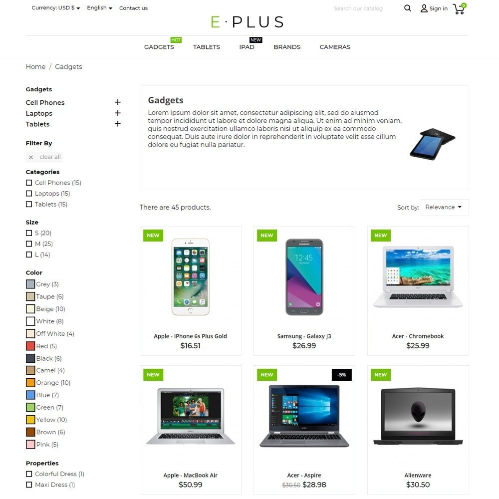 theme - Eletrônicos & High Tech - E-Plus - 7