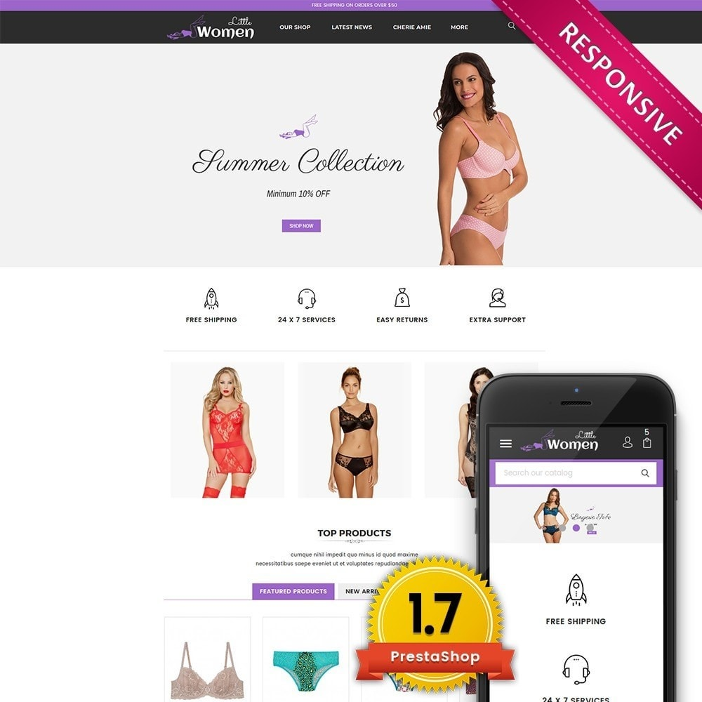 theme - Lingerie & Adultos - Little Women Lingerie Store - 1