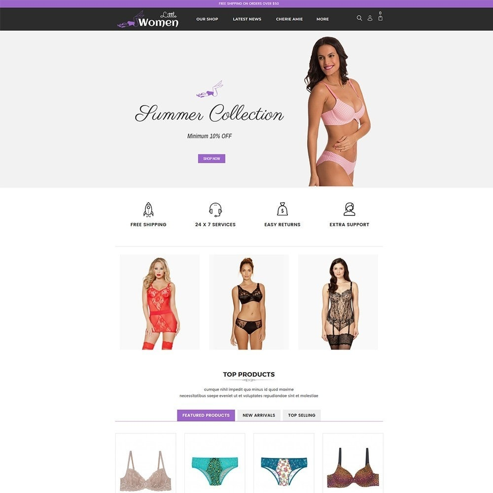 theme - Lingerie & Volwassenen - Little Women Lingerie Shop - 2