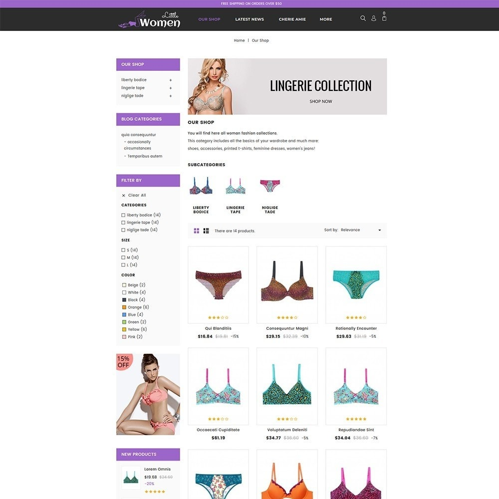 theme - Lingerie & Adultos - Little Women Lingerie Store - 4