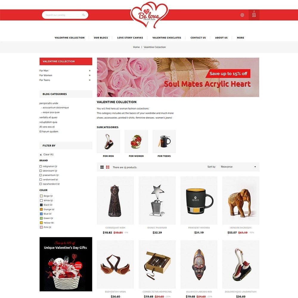 theme - Gifts, Flowers & Celebrations - Belove Valentine Gift Shop - 4