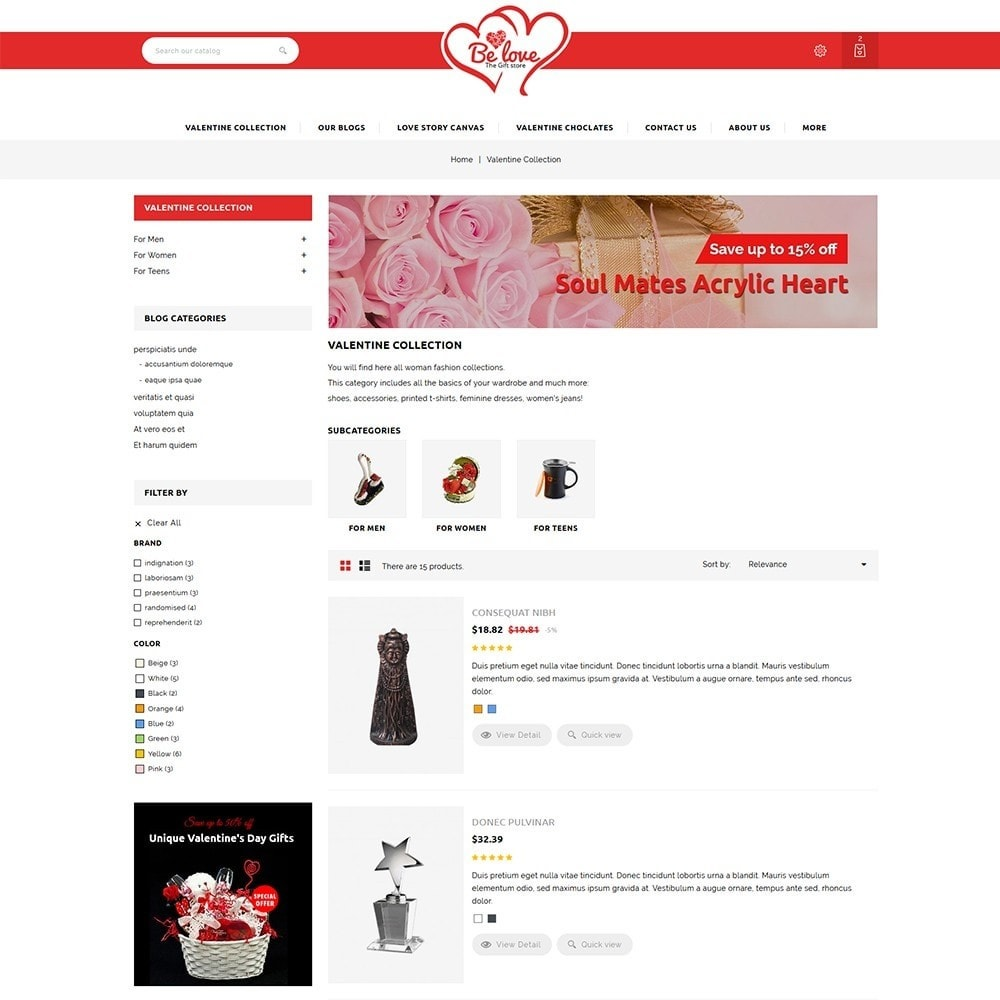 theme - Gifts, Flowers & Celebrations - Belove Valentine Gift Shop - 5