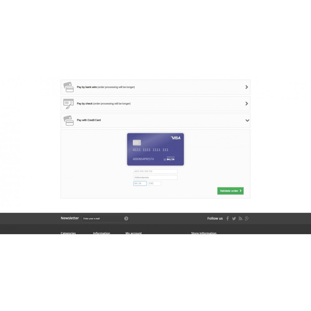 module - Paiement par Carte ou Wallet - Elavon Converge Virtual Payments - 5