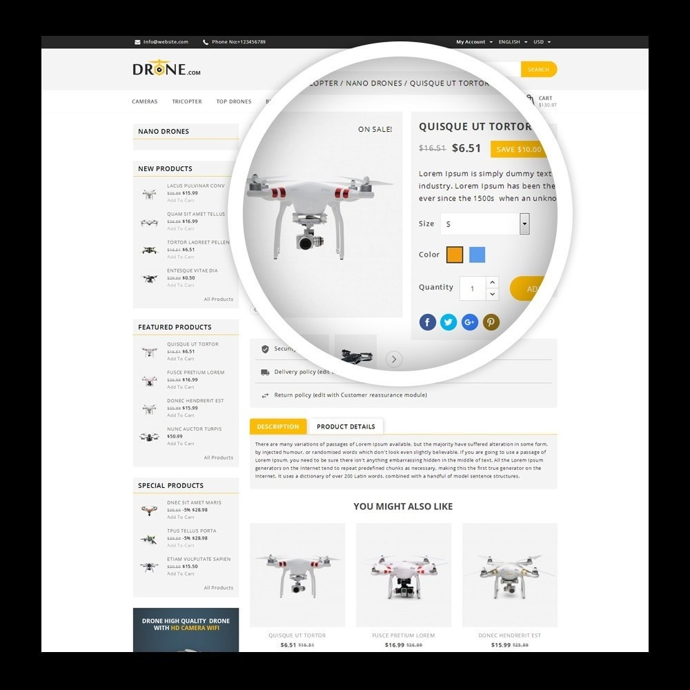 theme - Elektronika & High Tech - Drone - Online Store - 4