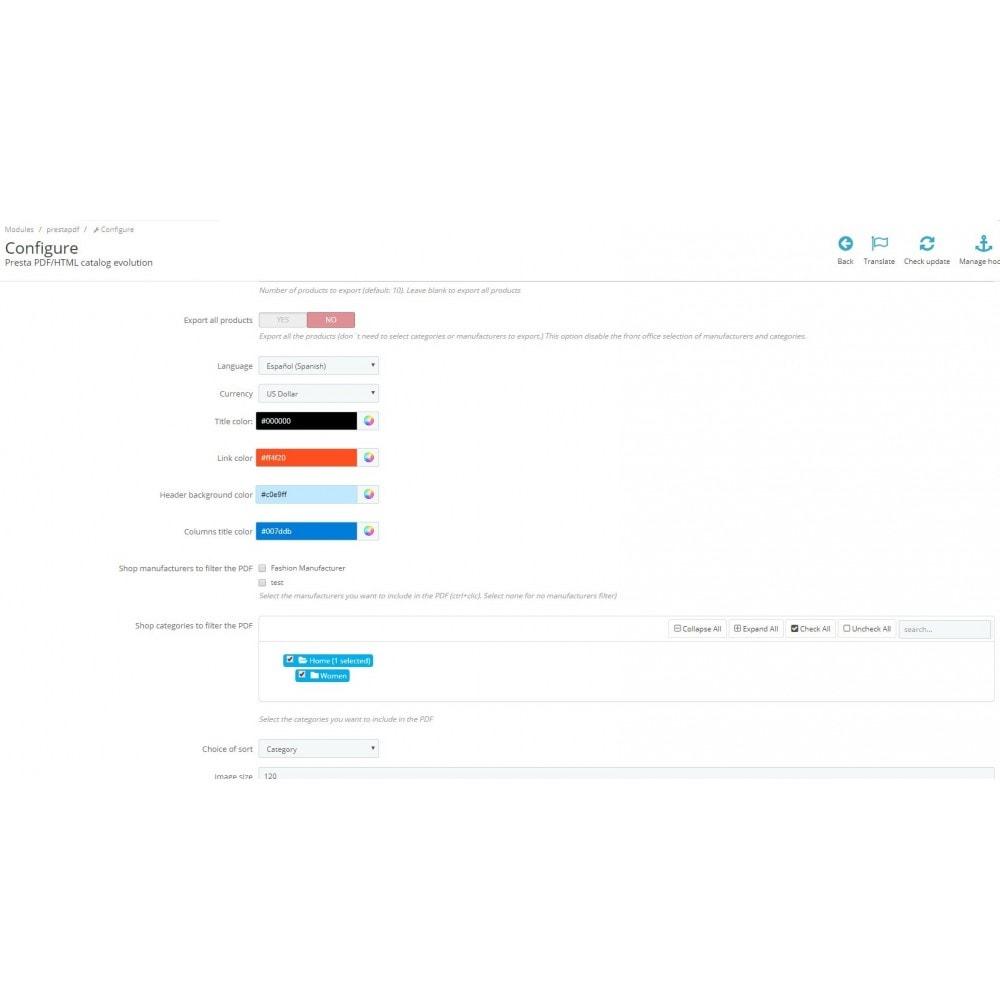 module - Importación y Exportación de datos - RSI PDF/HTML catalog  evolution - 7