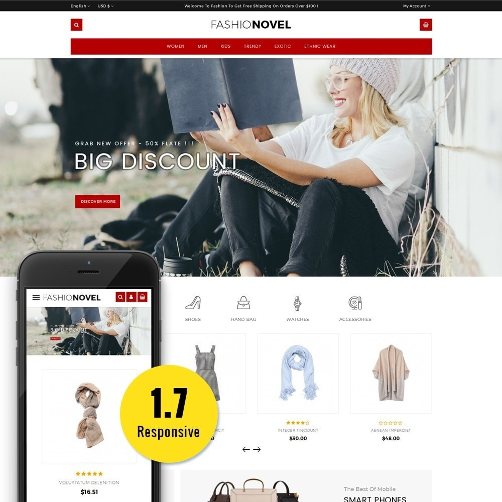 theme - Fashion & Shoes - Fashionovel Store - 1