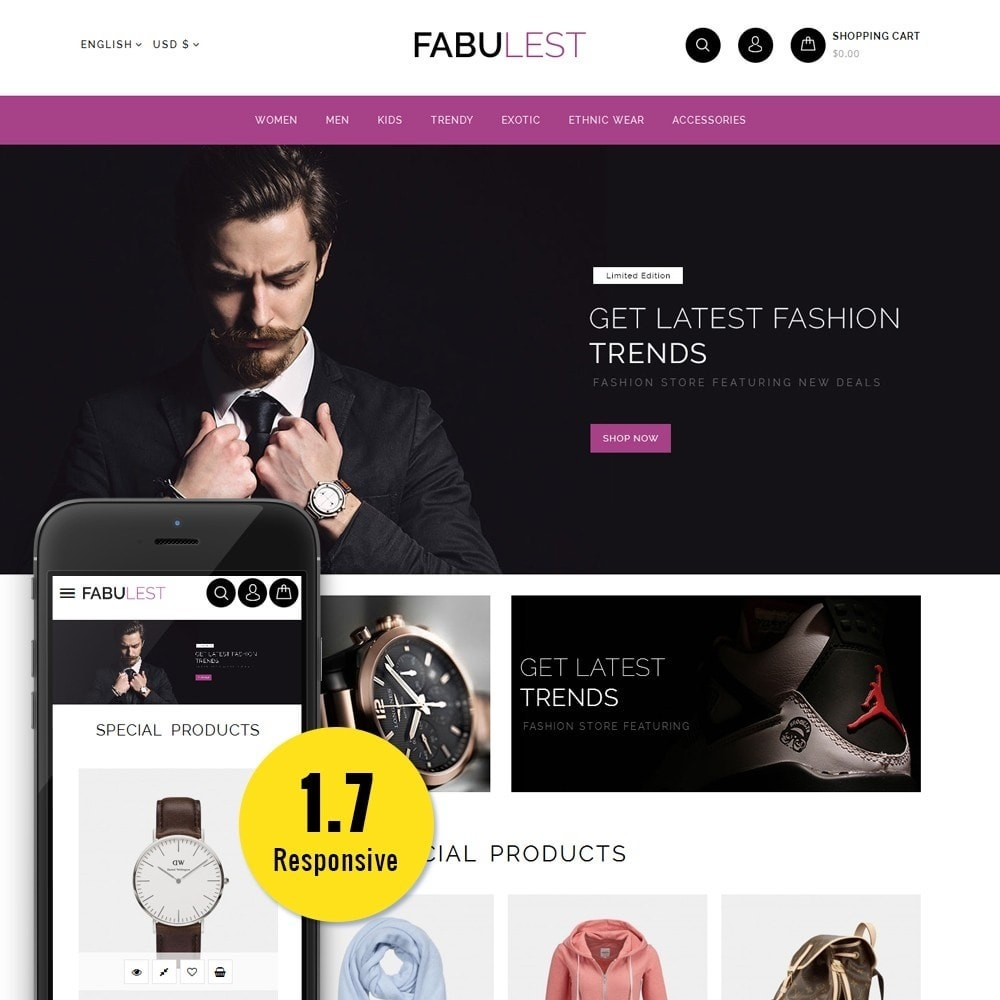 theme - Mode & Chaussures - Fabulest Store - 1