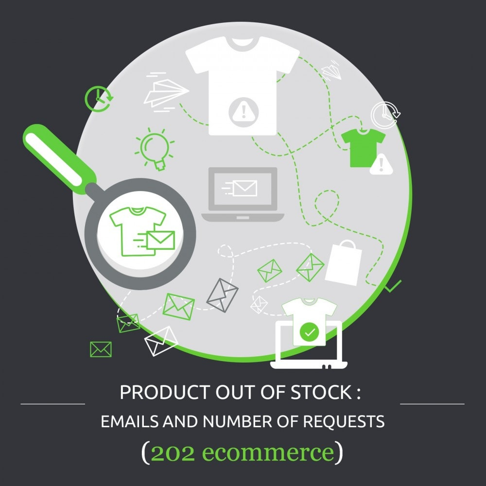 module - Stock & Leveranciersbeheer - Product Out of Stock : Emails and Number of Requests - 1
