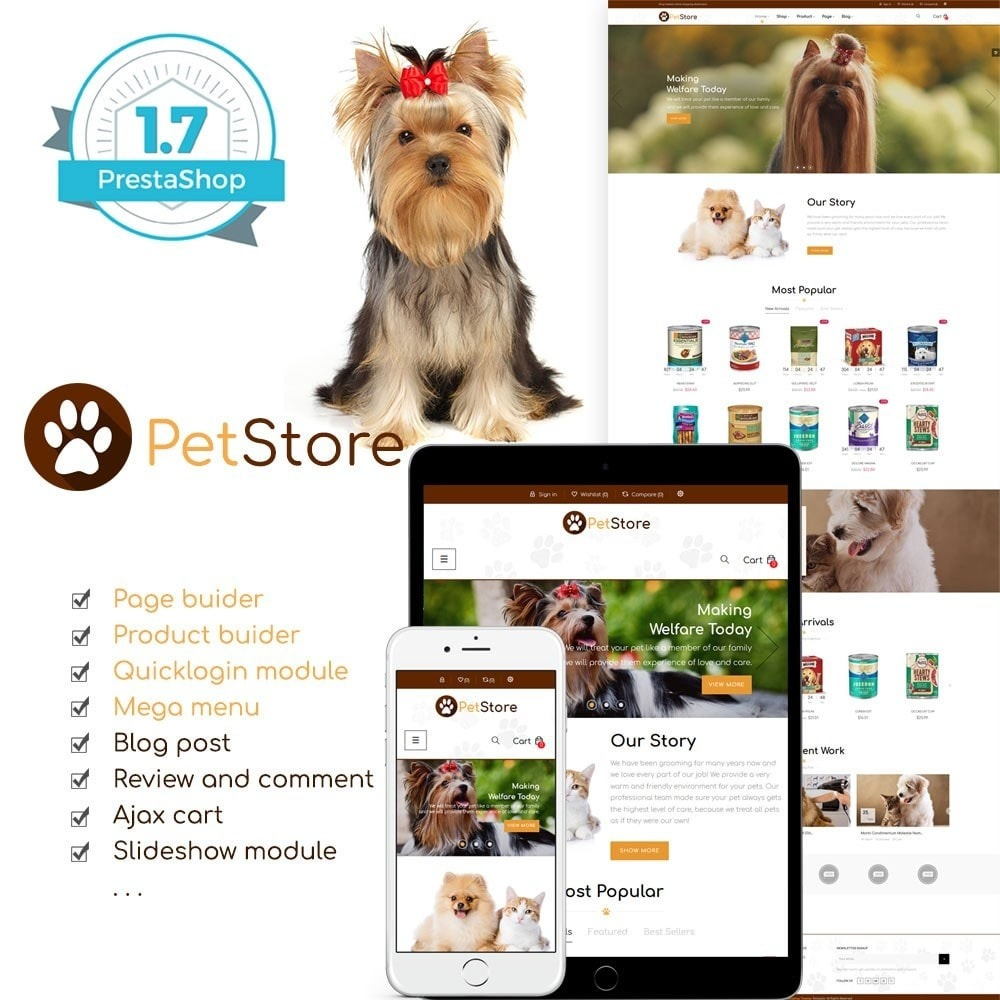 theme - Animales y Mascotas - Pet Store - 1