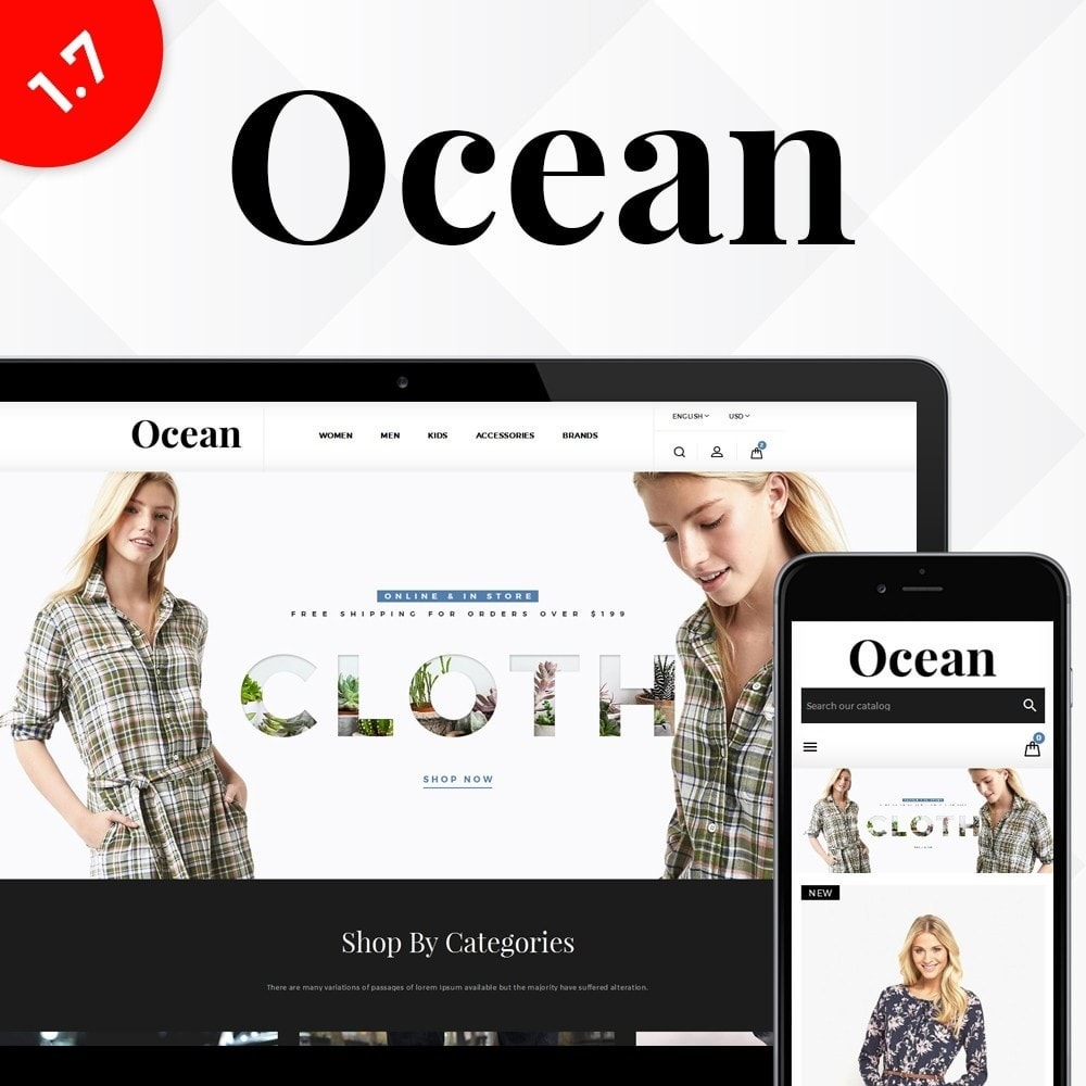theme - Fashion & Shoes - Ocean Fashion Store - 1
