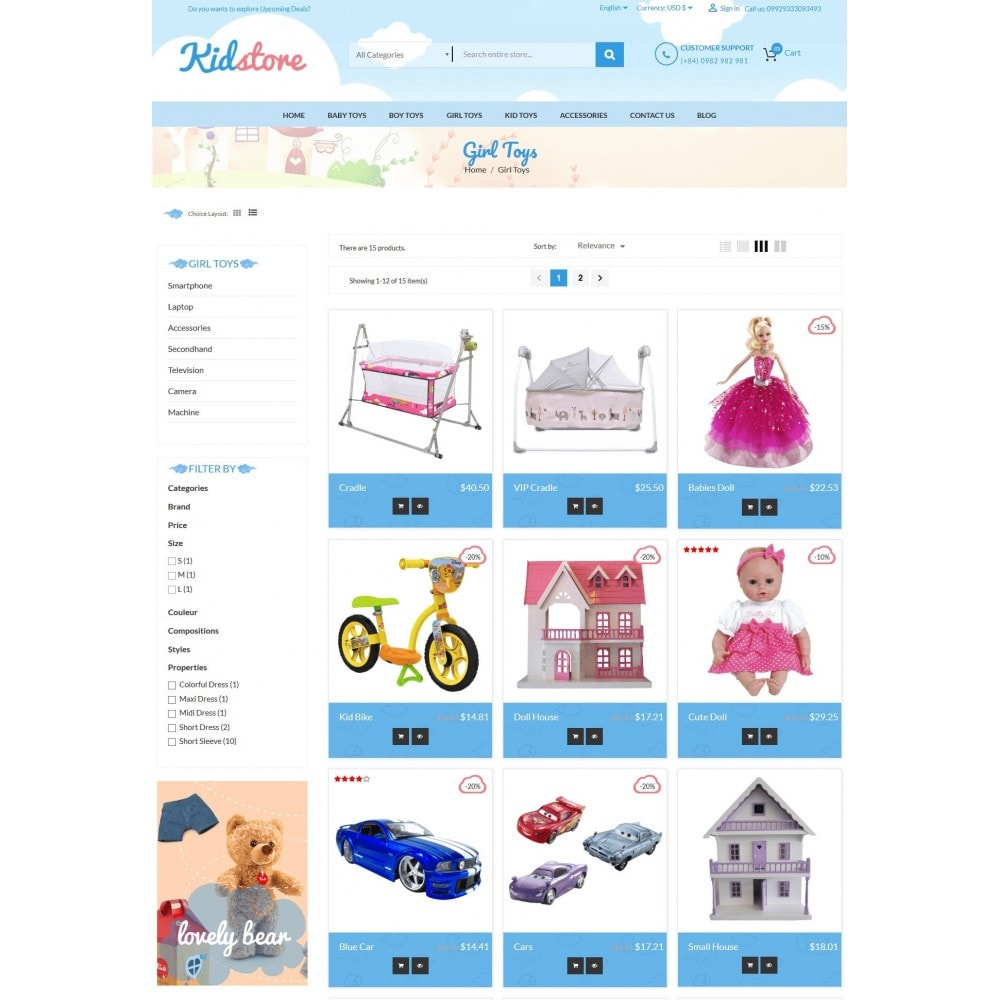 theme - Enfants & Jouets - Baby - Kids & Children Store - 4