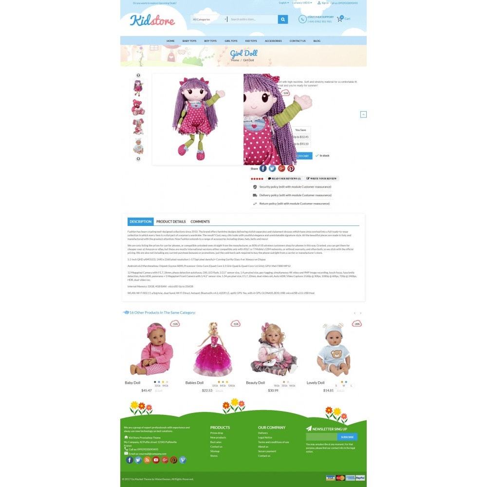 theme - Enfants & Jouets - Baby - Kids & Children Store - 5