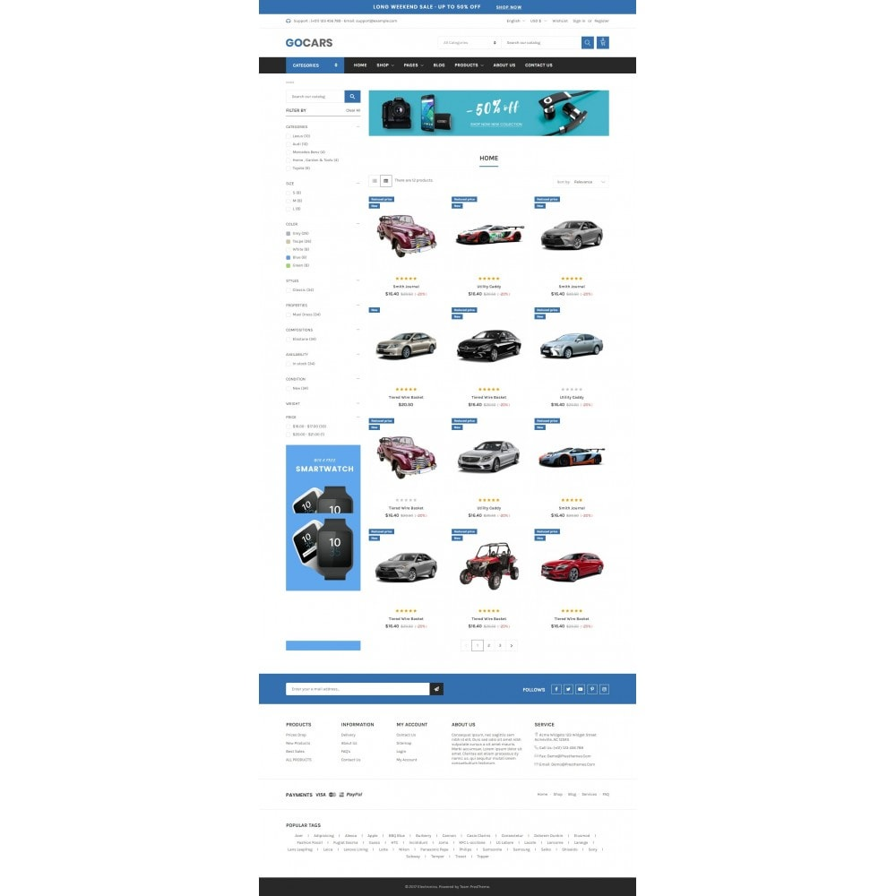 theme - Carros & Motos - Automotive & Cars - Gomarket - 1