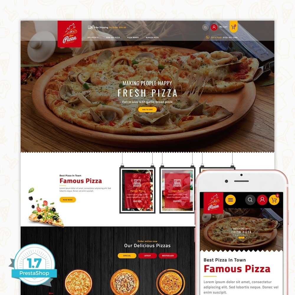 theme - Gastronomía y Restauración - Hot Pizza House Store - 1