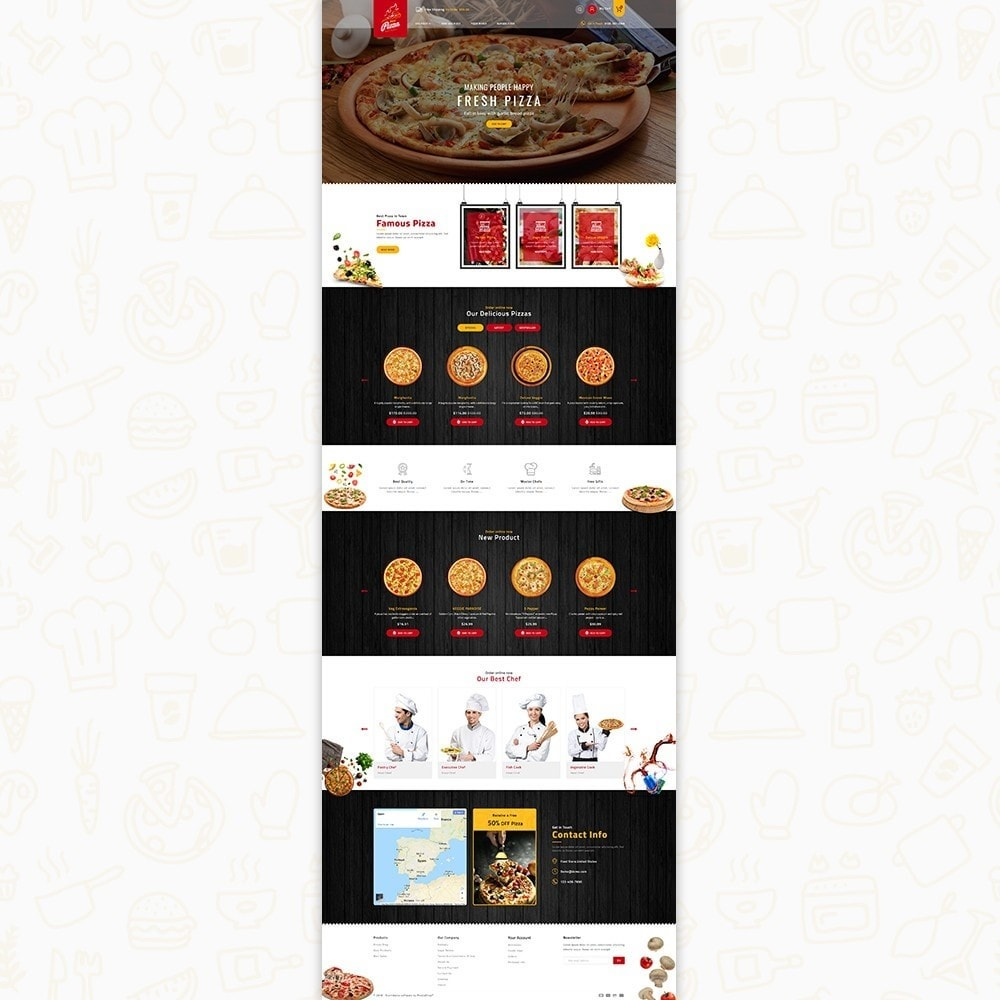 theme - Food & Restaurant - Hot Pizza House Store - 2