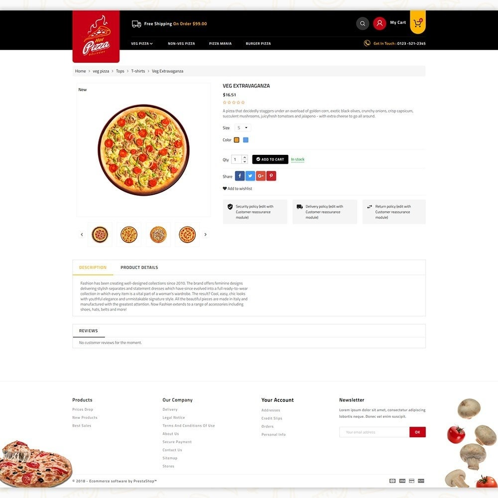 theme - Alimentation & Restauration - Hot Pizza House Store - 5