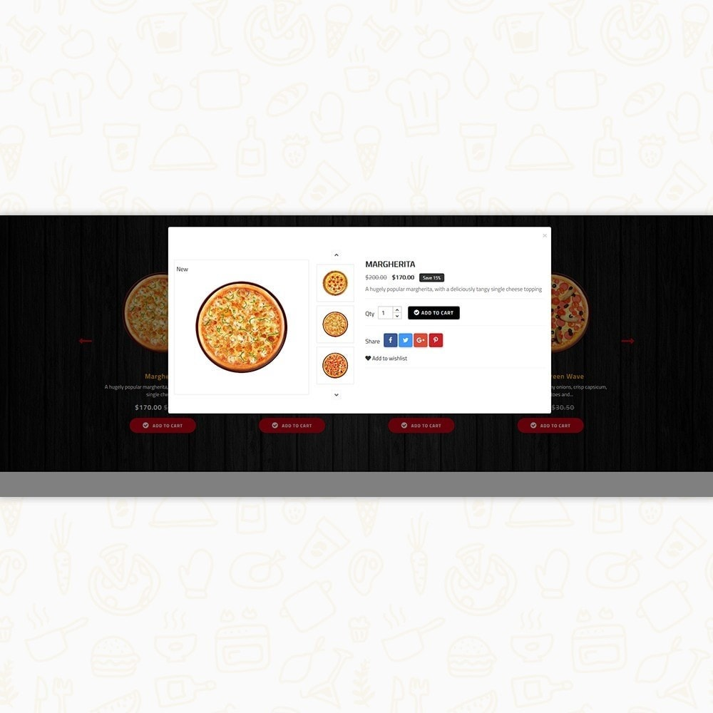 theme - Food & Restaurant - Hot Pizza House Store - 6