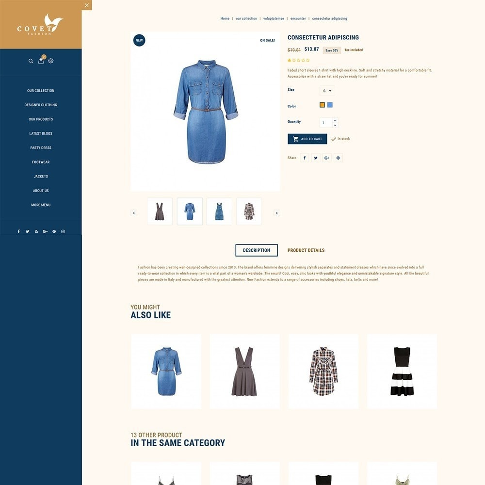 theme - Mode & Chaussures - Covet Fashion Store - 6