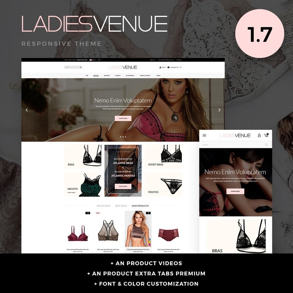 theme - Lingerie & Adult - Ladiesvenue Lingerie Shop - 1