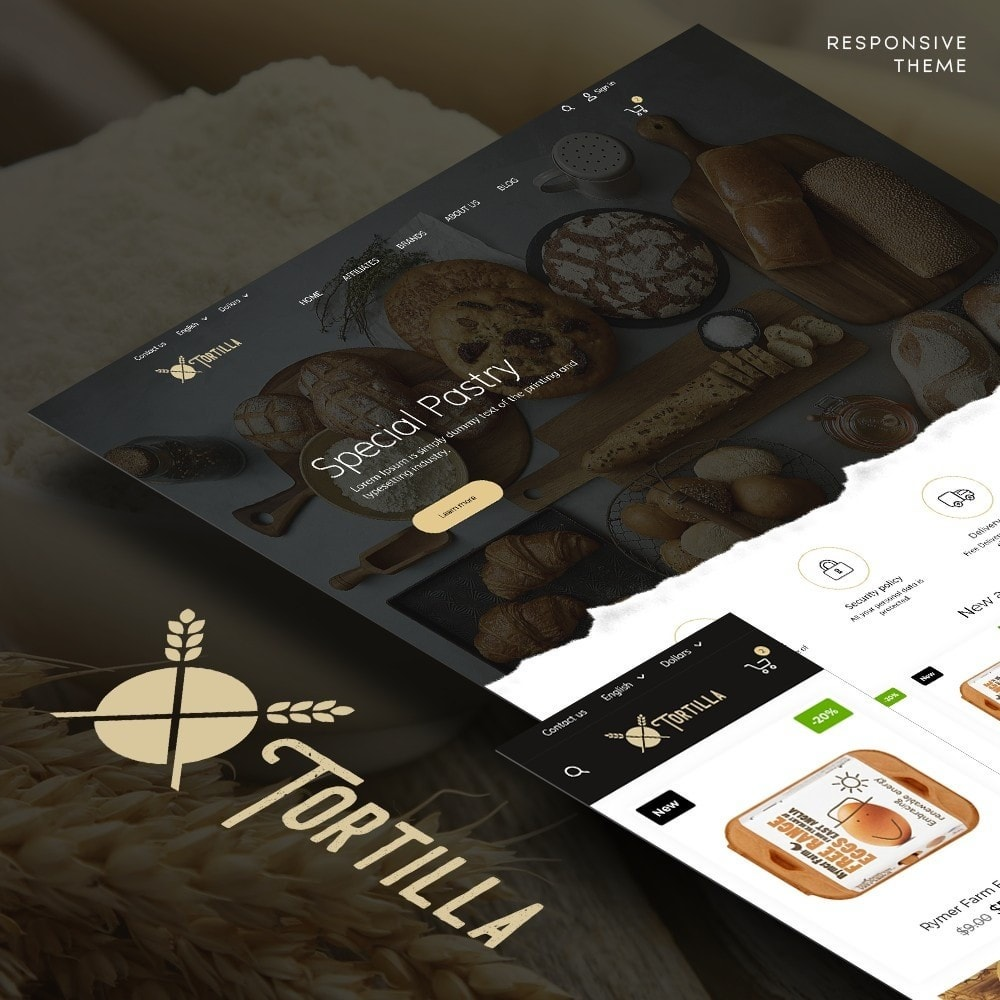 theme - Food & Restaurant - Tortilla - 1