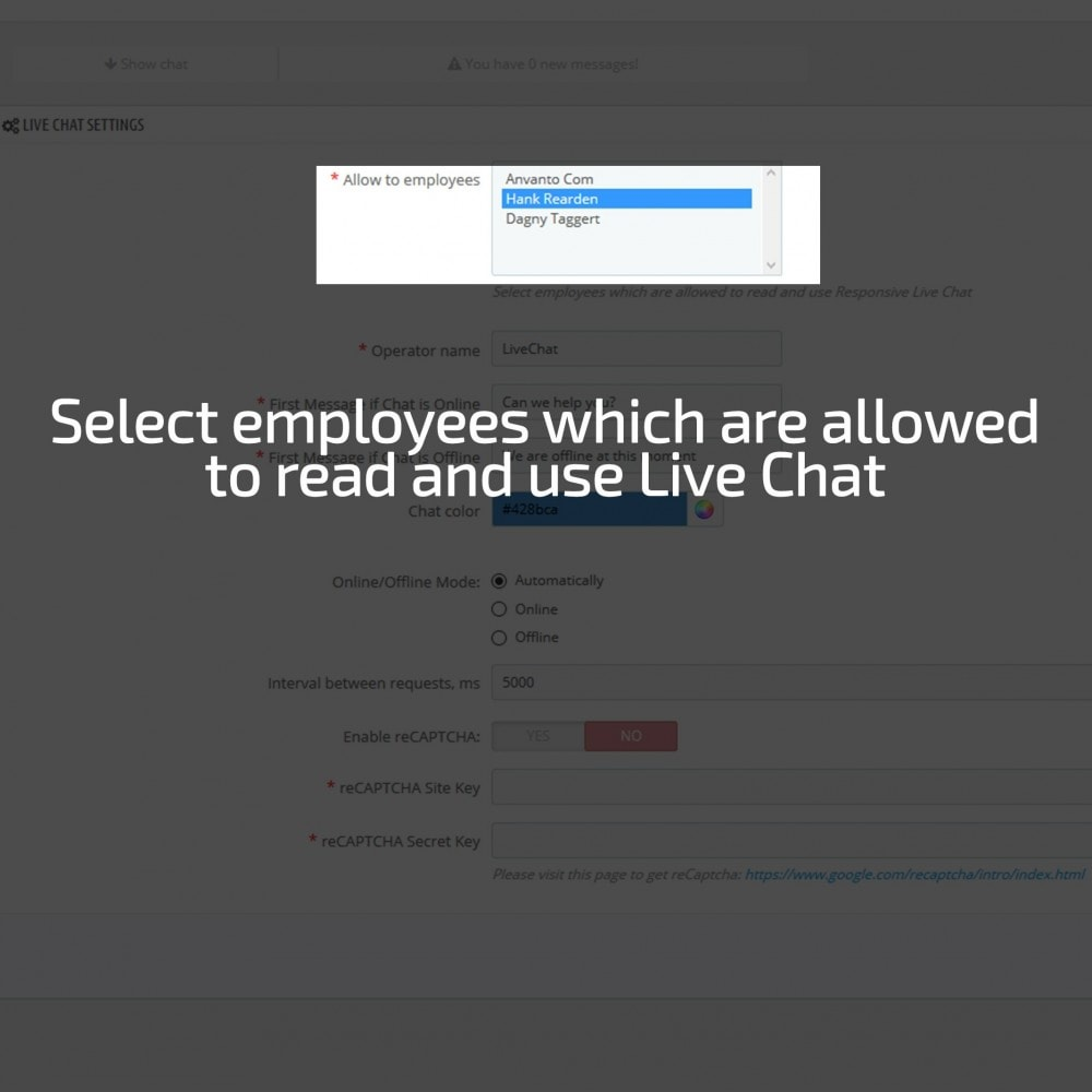 module - Support & Online Chat - AN Responsive Live Chat - 8
