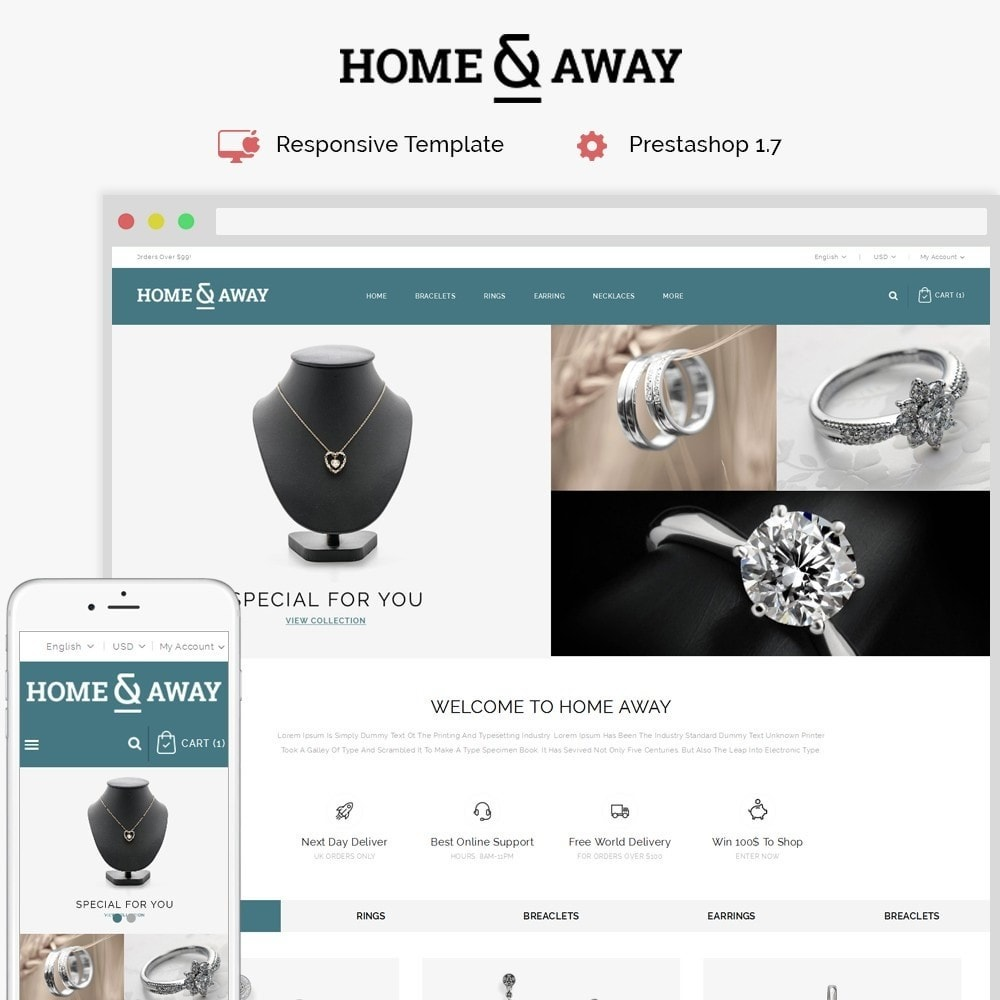 theme - Jewelry & Accessories - Homeaway Jewelry Store - 1